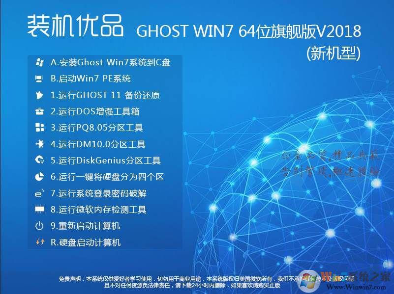 裝機優品Ghost Win7 64位旗艦版(集成USB3.0...